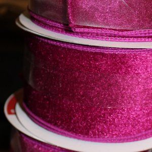 Wired Velvet Ribbon 2 1/2 X 5 yd NWT ONE ROLL
